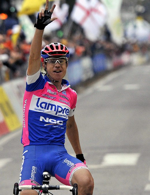 Cunego had plenty of time to celebrate