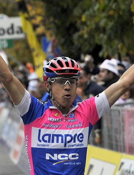 Damiano Cunego won the Tour of Lombardy for the third time