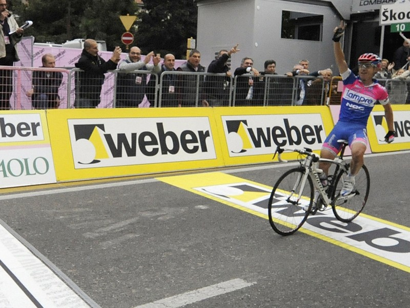 Damiano Cunego finished a long way ahead of second place in this year's Tour of Lombardy - his third win in this end of season monument