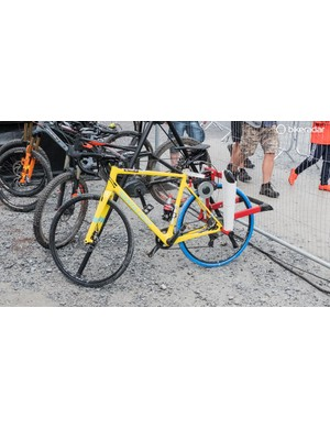 This Santa Cruz Stigmata was probably the nicest turbo bike of the lot at Fort William