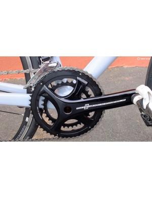 Potenza's new four-arm aluminium crank design is modelled on Super Record