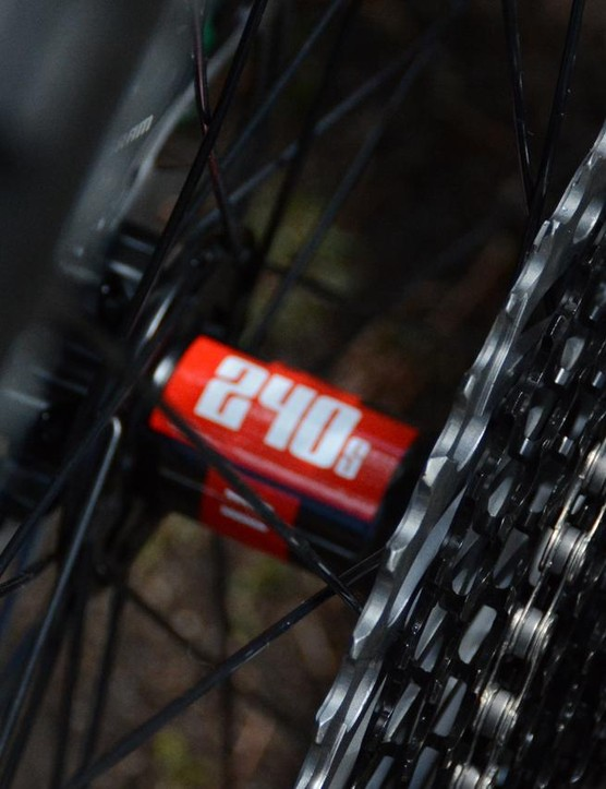 The 240 rear hub is a brilliant choice with its minimal sound and bombproof reliability