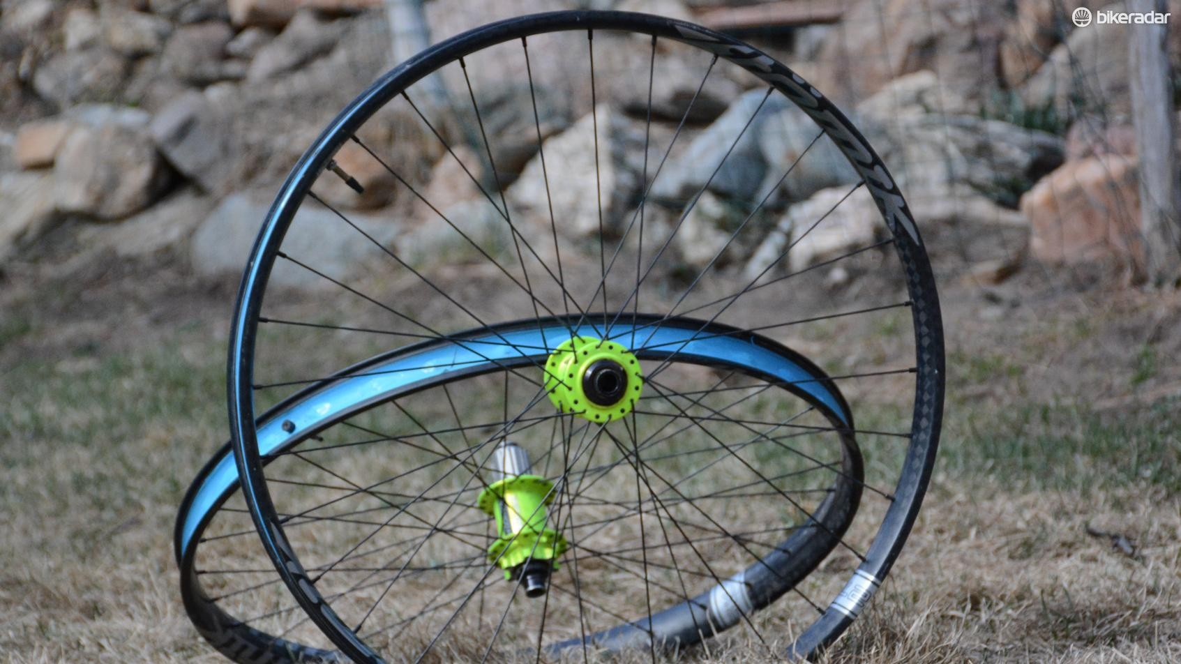 The rims are taped for tubeless compatibility