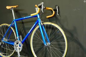 It's not steel under that brilliant blue paint, it's actually carbon