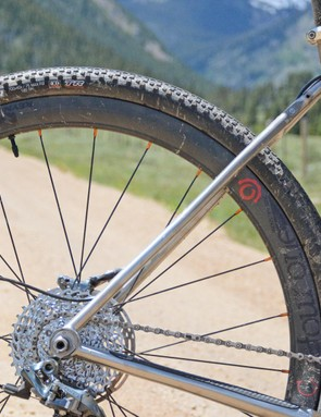 The Reynolds carbon rims paired to Industry Nine hubs were almost too beautiful to cruise on the dirt and mud, almost