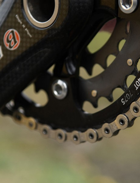 A 40T outer chainring cuts a bit of weight, increases ground clearance and tightens the gear ratios