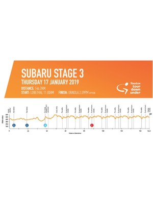 Stage 3 departs Lobethal and culminates with a finish in Uraidla