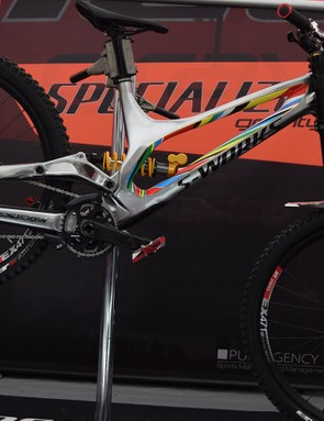 Finn Iles' demo carbon painted to look like alloy
