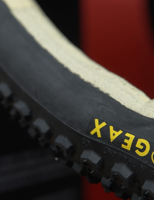 GEAX was showing off its tubular tyres which are becoming increasingly popular.