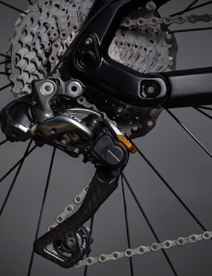The e-Tron Shimano Di2 XTR transmission