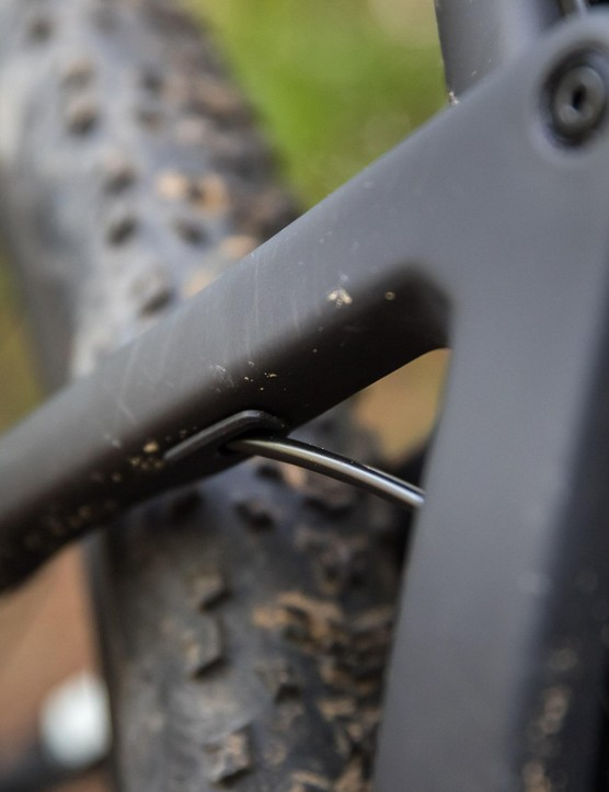 The Blur has clean routing through the seatstay