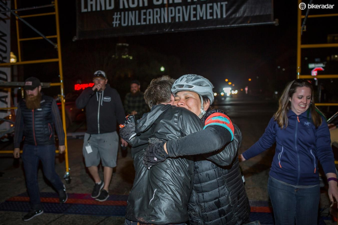 No matter how long it takes you to finish, everyone gets a hug at Land Run
