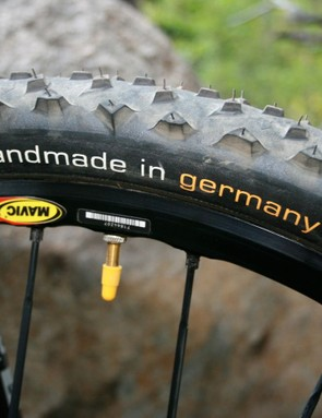 Handmade Continental tyres.