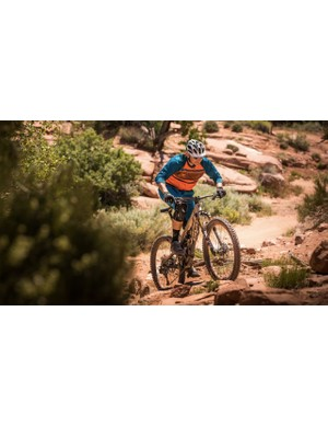 The head of Pivot, Chris Cocalis, rides strong and his bikes are representative of that