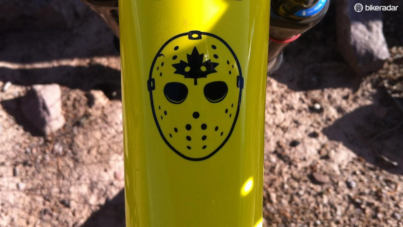 A little reminder on the top tube if your riding starts to slack off