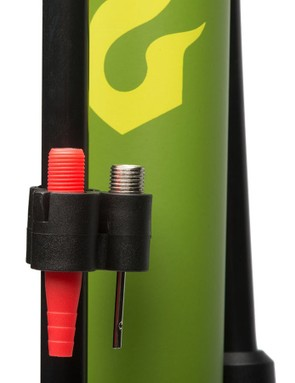When other equipment needs air, a ball needle and inflator attachment are included