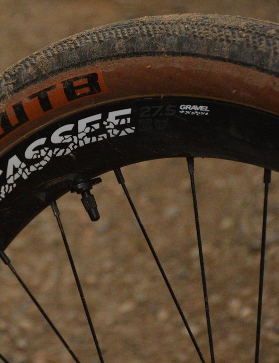 The Jocassees did a fine job of supporting big, wide gravel tires