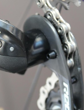 Press the button to shift the derailleur