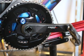 eTap can come stock with a (Quarq) power meter. Try that with Shimano or Campagnolo
