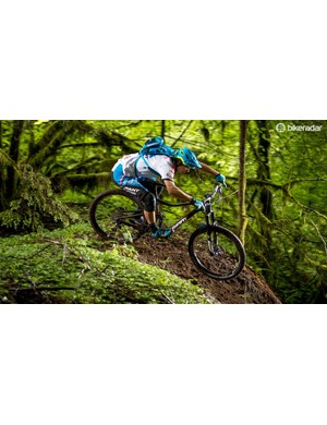 XC ripper turned enduro charger Adam Craig surfs some loam on the Trance
