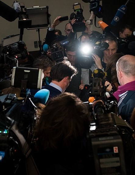 Lord Coe leaves the WADA press conference in southern Germany earlier