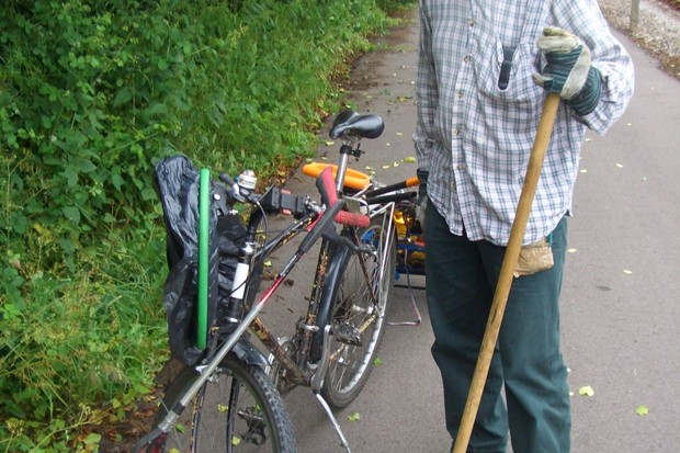 Adrian helps keep the Bristol to Bath bike in tip top shape