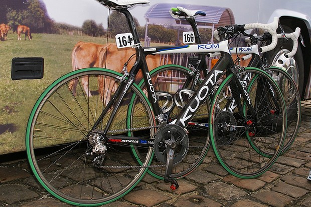 Agritubel riders did, indeed, head out on their ultra-lightweight Kuota KOM frames.