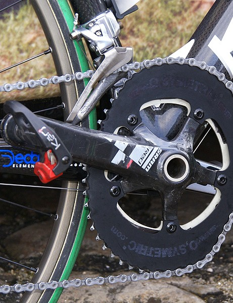 Agritubel's Geoffroy Lequatre fitted his machine with O.symetric chainrings.