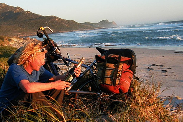 After his global two-wheeled adventures Alastair will abandon the bike for his polar trip