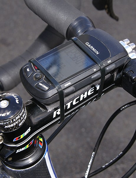 Garmin GPS computers are everywhere in the pro peloton
