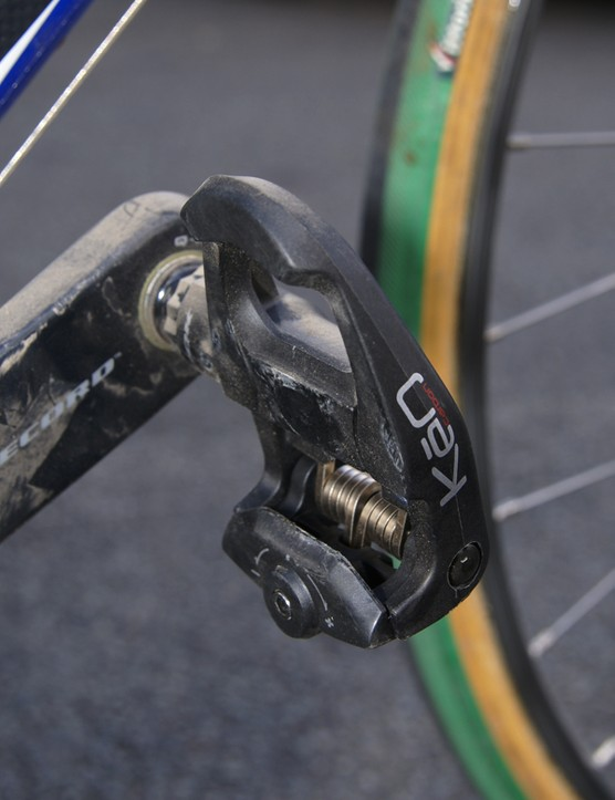 The usual Look KeO Carbon pedals  will help Ballan power along the pavé.