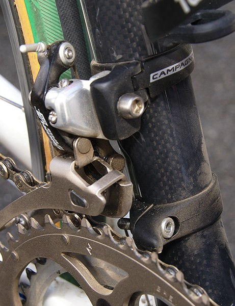 A little bit of insurance: a dropped chain can mean the difference between glory and regret.