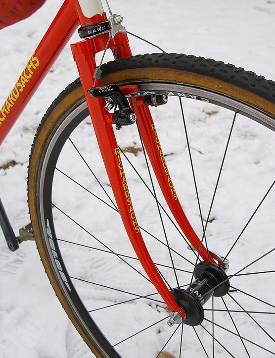 Richard Sachs/CYBC team bikes are also equipped with steel forks
