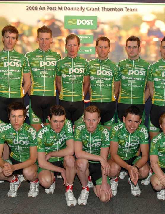 The full line up of the new An Post - Sean Kelly Professional Cycling Team