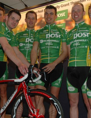 The riders were glad to be back indoors after the photo shoot in the crisp spring air.
