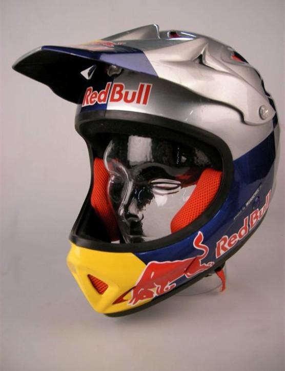 Andreu Lacondeguy's Red Bull helmet