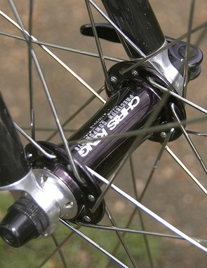 …and is mated to a Chris King Classic front hub.