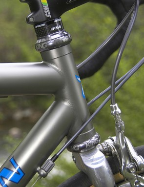 Hampsten's titanium frames are welded by either Kent Eriksen Cycles or Moots.