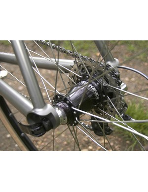A Chris King hub is used out back as well.