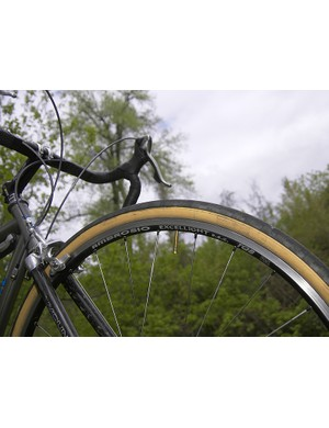An Ambrosio Excellight SSC rim is used up front…