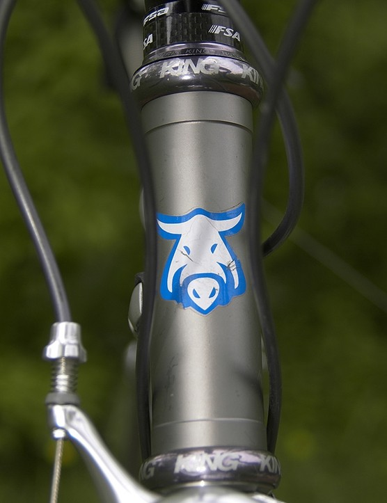 The wild boar, or cinghiale, is the mascot for Hampsten's Italian bicycle touring company.