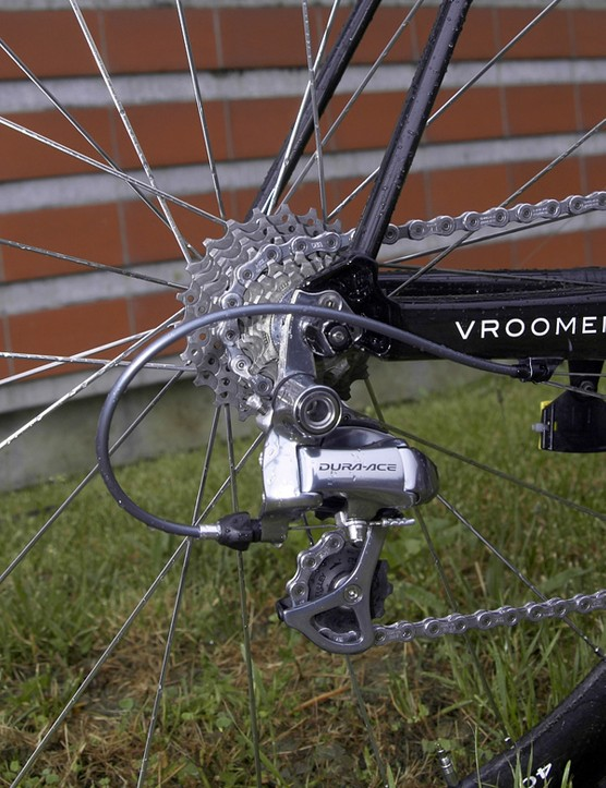CSC-Saxo Bank uses Shimano Dura-Ace componentryfor the transmission…