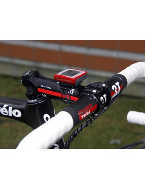 New sponsor 3T supplies Schleck with its Arx Team stem and Rotundo Team carbon bars