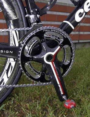 These FSA cranks are labeled as 'K-Force Light'	but they're more likely rebadged SL-K Light models that are swapped in for their standard bolt circle diameter