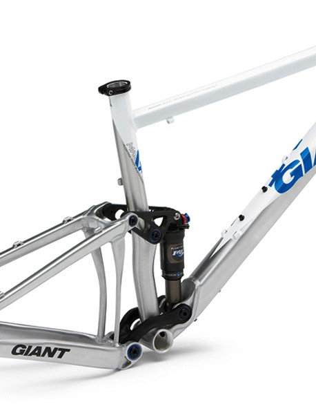 Giant's new Anthem X frame adds a half inch of travel to its racier Anthem cousin yet weighs 185g less