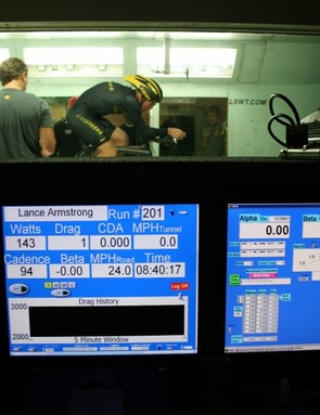 The raw data kicks in on Armstrong in the wind tunnel in San Diego, as business partner Bart Knaggs and aerodynamic consultant Steve Hed discuss the process.