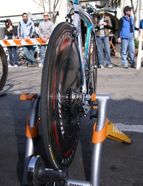 Bontrager's Aeolus 'triple radius' discs were still in heavy use on the team.