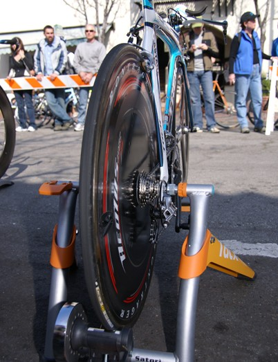 Bontrager's Aeolus 'triple radius' discs were still in heavy use on the team.