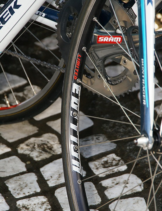 The 'Limited Edition' on Astana's Bontrager tubulars translates as 'not available to the public'