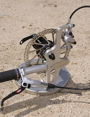 Avid debuted its new Elixir line of hydraulic disc brakes.